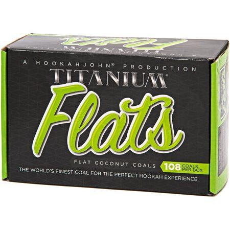 Titanium-FlatsHookah-Coals-108-Piece-Box